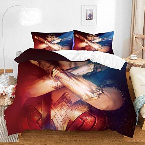 El juego de cama de anime de dibujos animados en 3D,la funda nórdica con estampado de rey niño y la funda de almohada grande son los mejores regalos para hermanos y hermanas-D-008_180 * 210cm(3pcs)
