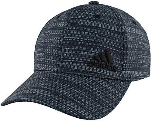 adidas Men's Release Stretch Fit Structured Cap, Black Strata Print/White, Small/Medium