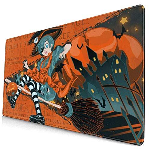 Mousepad,Halloween Black Butler Schreibtisch Pad, Premium Fashion Schreibtisch Pads Für Office Computer Decor,40x75cm
