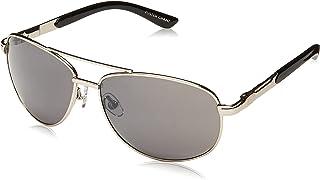 Foster Grant Sunday Drive Aviator Sunglasses, Gunmetal/Smoke w/Silver Flash Mirror, 158 mm