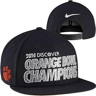 Nike Clemson Tigers 2014 Orange Bowl Champions Locker Room Players Snapback Hat - Black