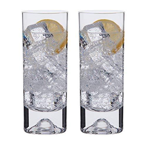 Dartington Crystal Dimple - Vasos de Tubo (2 Unidades)