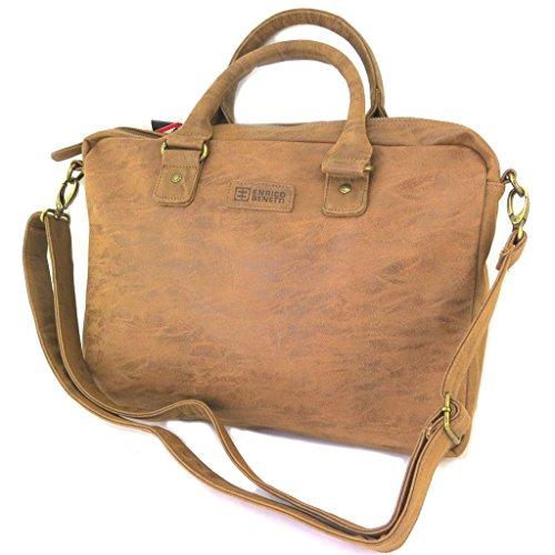 Asciugamano laptop 'enrico benetti' camel vintage - 42x32x6 cm.