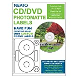 NEATO CD Labels - DVD Labels - for Inkjet and Laser Printers - PhototMatte - Printable Photo Quality Finish - 50 Blank...