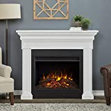 Real Flame Emerson Grand Electric Fireplace, Rustic White