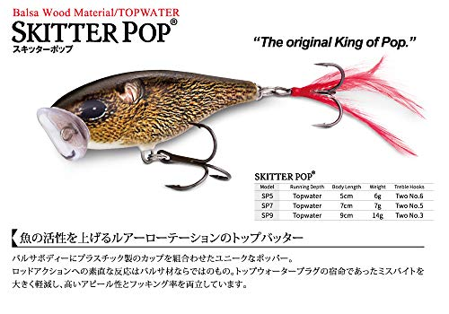 ラパラ(Rapala) スキッターポップ 7cm 7g クロームアカキン SKITTER POP SP7-SGFR