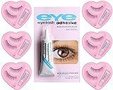 Spanking False-Fake Eyelashes With Glue Set Natural (Pair of 6)