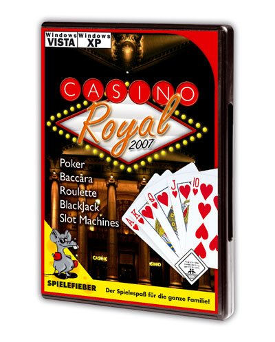 Casino Royal 2007, 1 CD-ROM Poker, Baccara, Roulette, Blackjack, Slot Machines. Für Windows XP, Vista