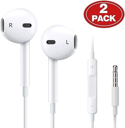 (2 Pack) Aux Headphones/Earphones/Earbuds 3.5mm Wired...