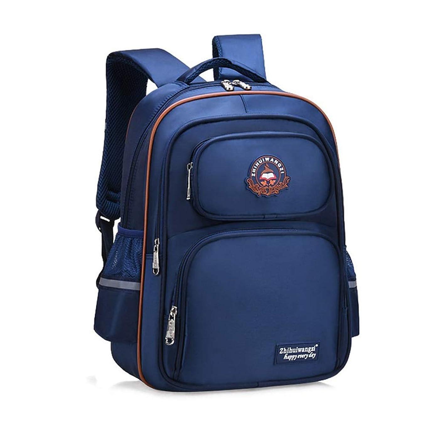 億クライアントコンサートNwn キャンパスブリティッシュウィンドバッグ男性と女性6-12歳の子供用バッグ40X18x32cm (Color : Dark blue, Size : 40X18x32cm)