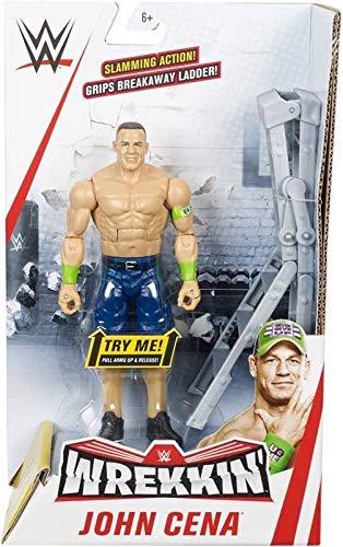 WWE WREKKIN - John Cena - Actionfigur komplett mit Wrackzubehör, ca. 15 cm
