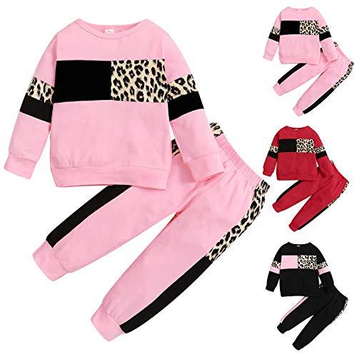 Trajes para Niños Pequeños Conjunto de Ropa de Manga Larga Jersey con Capucha Sudadera + Pantalones Conjunto de Ropa para Niños Pequeños