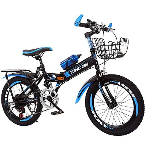 Axdwfd Infantiles Bicicletas Bicicleta al Aire Libre para niños, 20 Pulgadas, Bicicletas para niños y niñas, Adecuado para 9-14 años, con Asiento Trasero y Soporte