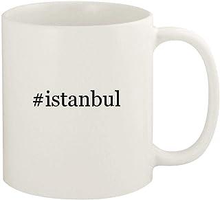 #istanbul - 11oz Hashtag Ceramic White Coffee Mug Cup, White