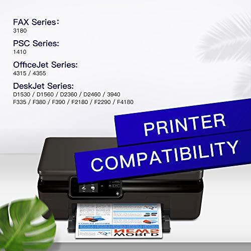 GPC Image 21XL 22XL Remanufacturado Cartuchos de Tinta para HP 21 XL 22 XL para HP PSC 1410, DeskJet D1530 D1560 D2360 D2460 F335 F380 F390 F2180 F2290 F4180, OfficeJet 4315 4355 (1 Negro, 1 Tricolor)
