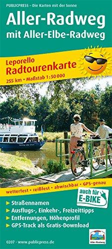 Aller-Radweg mit Aller-Elbe-Radweg: Leporello Radtourenkarte mit Ausflugszielen, Einkehr- & Freizeittipps, wetterfest, reissfest, abwischbar, GPS-genau. 1:50000 (Leporello Radtourenkarte / LEP-RK)