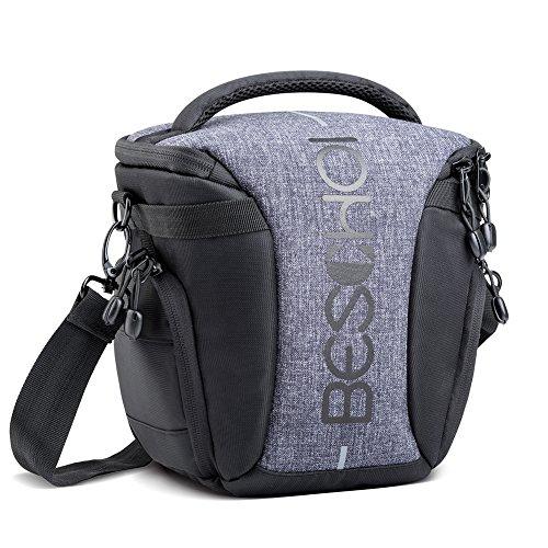 Beschoi SLR Kamera Fototasche mit Schultergurt Kameratasche Schultertasche für Canon Nikon Sony DSLR Kamera Objektiv Blitzgerät und Zubehör