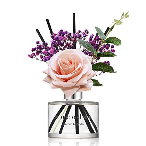 Cocodor Rose Reed Diffuser/Garden Lavender/6.7oz(200ml)/1 Pack/Reed Diffuser, Reed Diffuser Set, Oil Diffuser & Reed Diffuser Sticks, Home Decor & Office Decor, Fragrance and Gifts