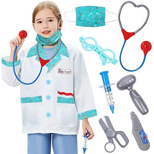 Tacobear Valigetta Dottore Bambini Costume Dottore Giochi Kit Dottoressa Bambina Stetoscopio Siringa Forbici Accessori Kit Medico Kit Dottore Giocatto