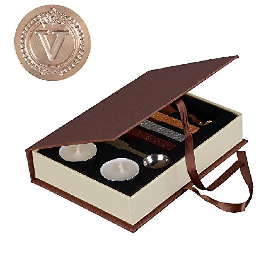 I-MART Vintage Crown Letter Wax Seal Stamp Sticks Melting Spoons Candles Set Sealing Wax (V) r873224792