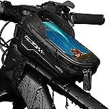 Bolsa de Movil Bicicleta Manillar,Bolsa Impermeable para Bicicleta,Cremallera Doble Viseras y Pantalla táctil TPU,para Teléfono Inteligente por Debajo de 6,5 Pulgadas