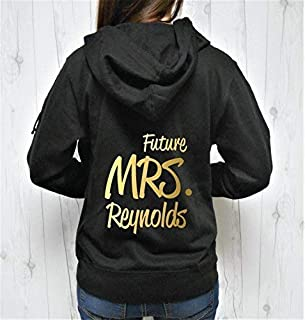 Future Mrs Last Name Hoodie, Future Mrs Hoodie, Future Mrs Zip-Up, Custom Last Name Hoodie, Personalized Name Hoodie Zip-up Jacket Sweatshirt