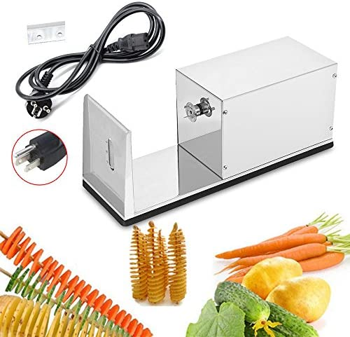 Electric Spiral Potato Slicer Automatic Electric Spiral Potato Chips Twister Stainless Steel product image