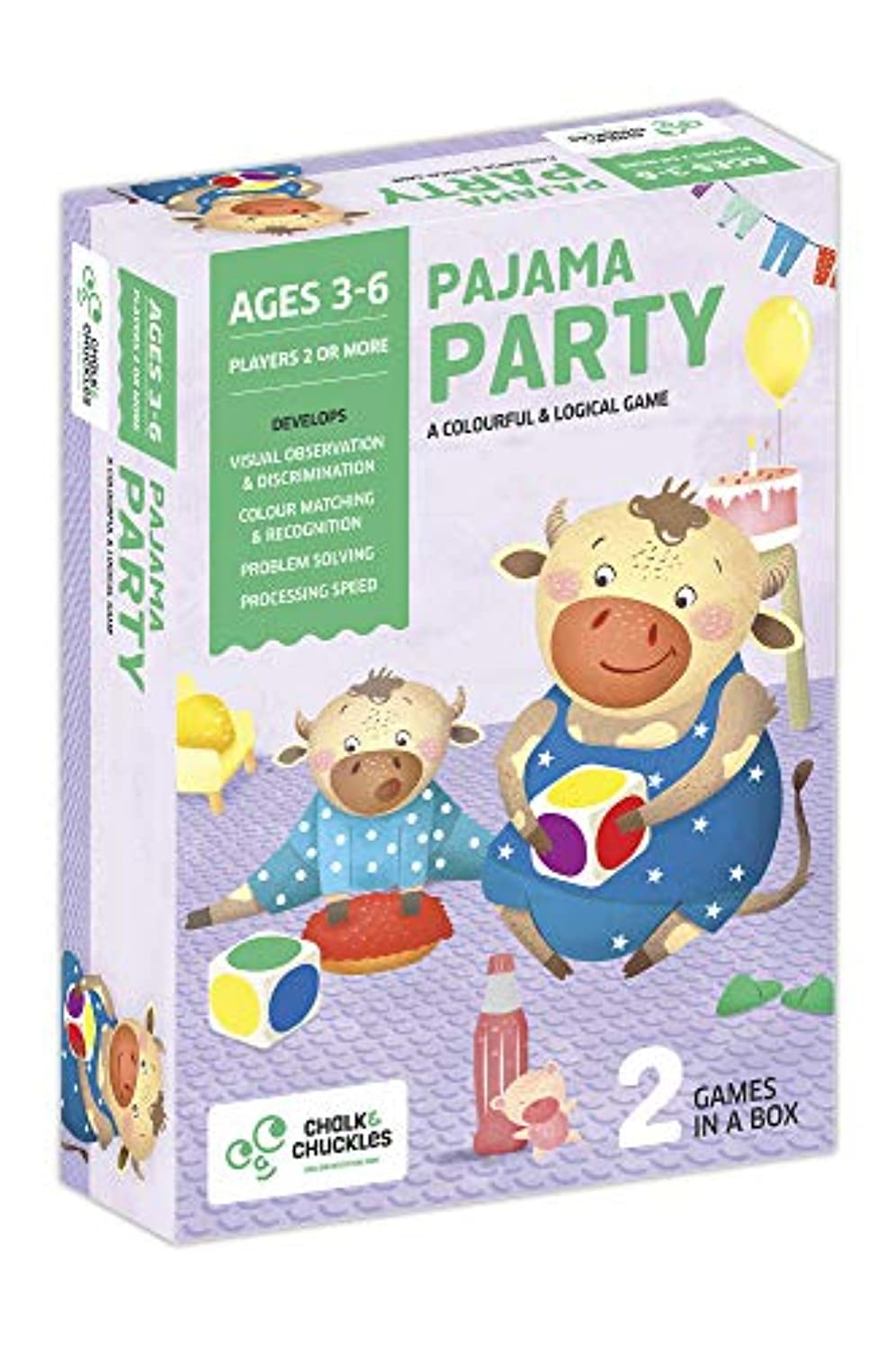 Chalk and Chuckles Pajama Party Colourful and Logical Game, Preschoolers