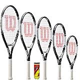 WILSON Federer Junior Tennisschläger + 3 Tennisbälle (19,21,23,25 & 26) (26')