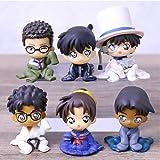 6 Unids/Set Detective Conan Chijimasetai Chimera Corps Figura De Acción Juguetes Muñeca Regalo De Navidad