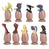 Cuque Huevos de Dinosaurio, Mitad del Huevo Rayado, 9pcs/Set Animal Model Collection Baby Learning Kid Toys