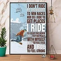 2個 Pozino Skiing Man I Don't Ride My Snowboard かわいい メタルサイン ガレージ ストリート カフェ バー クラブ キッチン 壁 デコレーション カントリー ファーム バスルーム レトロ 楽しい メタル ブリキ サイン 12x8インチ 最高のギフト