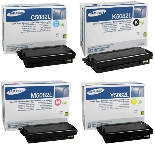 Samsung Original CLT-x5082L Rainbow-Kit Toner schwarz, Cyan,Magenta, gelb 17.000 Seiten
