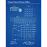 Hollerith Compiling Statistics Methodology 1889 Patent Extra Large XL Wall Art Poster Print Mur Impression d'affiches