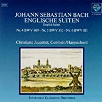 English Suites IV-VI by J.S. Bach (1995-04-16)