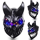LED Light Up Slaughter To Prevail Mask with Movable Mouth Kid of Darkness Demolisher Full Face Cosplay Mask Halloween