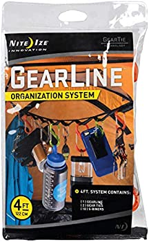 Nite Ize 4 FT Webbing GearLine Hanging Organization System With Loops
