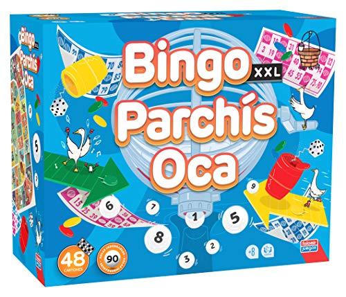 Falomir- Bingo XXL Premium + Parchis + Oca, Multicolor (31063)