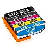 Vmosgo 33XL Sostituzione per Epson 33 Cartucce d'inchiostro, per Epson Expression Premium XP-540 XP-830 XP-530 XP-900 XP-640 XP-630 XP-645 XP-635 XP-7100 (Nero, Nero Foto, Ciano, Magenta, Giallo)