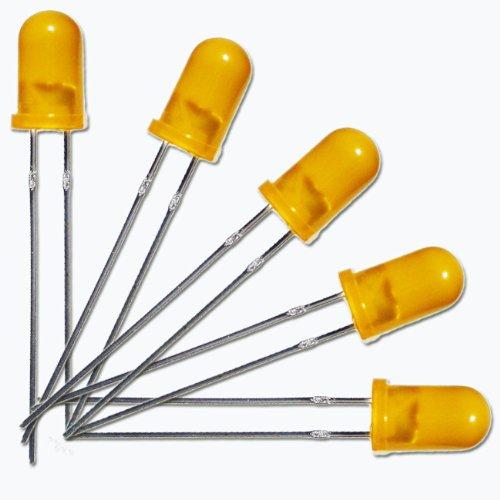 world-trading-net 20 LEDs 5mm diffus orange/Amber Typ WTN-5-1800o