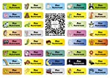 Sunnywall® für Kleidung Namensaufkleber Aufbügel-Etiketten Aufkleber Sticker 3