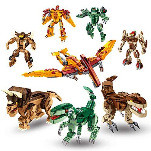 PANLOS ブロック 8in1恐竜ロボット おもちゃ 知育玩具 979PCS 男の子 子供おもちゃ ビルディングレンガセット 教育学習キット 6歳以上 立体パズル 組み立ておもちゃ すべての主要ブランドとの互換性