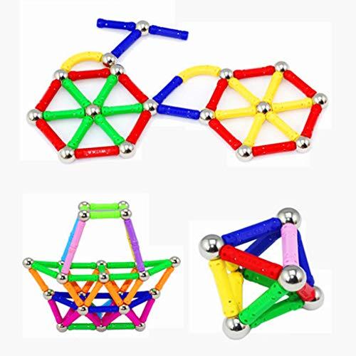 Tige magnétique éducative pour enfants, jouets éducatifs pour enfants 3-6-8 ans garçons et filles assemblés en blocs d'aspiration magnétiques en vrac, adultes pour soulager les jouets d'empilage, co