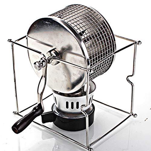 OUYA Home Hand Kaffeeröster, Kaffeebohne Kleine 304 Edelstahl Röstmaschine, für Haushaltskaffee - 16 * 12 * 14,5 cm