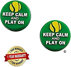 BD INNOVATION ELECTRONICS Tennis Vibration Dampener Keep Calm and Play On! 2 Pack for Tennis Elbow