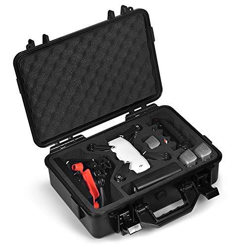 LEKUFEE Professional Estuche para dji Spark ,Funda Dura Impermeable para 4 Spark baterías y Accesorios - Ideal para Viajes y Almacenamiento en Casa