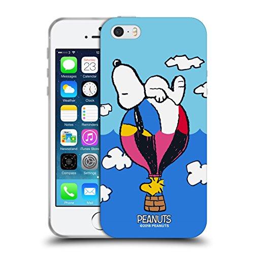 Head Case Designs Licenza Ufficiale Peanuts Snoopy & Woodstock Palloncini metà E Risate Cover in Morbido Gel Compatibile con Apple iPhone 5 / iPhone 5s / iPhone SE 2016