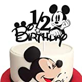 1/2 Birthday Mickey Mouse Cake Topper 6 Months Birthday...
