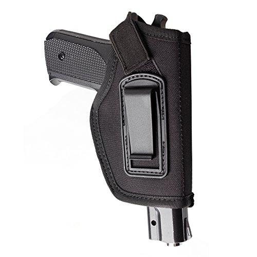 Fondina IWB, 1 pezzo, a scomparsa dentro la cintura in vita, per M & P Shield in 9mm Glock 194317262327P320Ruger LC9, LC380e pistole di simili dimensioni, Nero