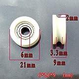 HEASEN 10pcs U Type Bearing Wheel U-Wheel Kit for DIY 6mm Bore Wheel